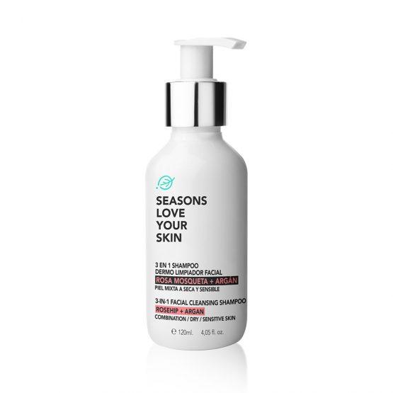 seasons-3-1-Shampoo-Facial-Dermo-Limpiador-Rosa-Mosqueta-frente